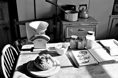 Dinner Time From Times Gone By! (WorcesterBarry) Tags: blackwhite blackandwhite bnw monochrome 1950s blackcountrymuseumn