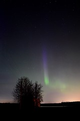 Pillar (faithroxy) Tags: aurora auroraborealis northernlights night sky alberta devon canada stars silhouette longexposure