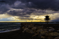 La Torre (A.Grau) Tags: mar torre espigon mediterraneo atardecer marejada nikon cala honda granada andalucia españa spain