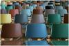 Chairs ... (Jan Gee) Tags: chairs stoelen stuhle chaises auditorium aula kunstha rotterdam repetition shapes kleuren colours colors farben farbig kleurrijk colourful