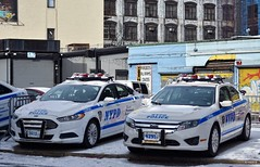 NYPD - CTB 3612 & 4291 (Arthur Lombard) Tags: police policedepartment policecar policestation policeinterceptor ford fordfusion nypd newyork emergency lightbar bluelight nikon nikond7200 street 911 999 112 17 ctb
