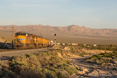 West Cima (Reed Skyllingstad) Tags: 8164 8207 9647 9785 ac45ccte c449w california cima cimahill clear clouds color desert es44ac ge generalelectric manifest oudoors outdoors outside railroad railway sunny sunset tracks train unitedstatesofamerica weather