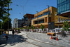 Just About Finished (Jocey K) Tags: newzealand nikond750 southisland christchurch sky clouds cbd buildings architecture shadows trees people rebuild construction bikes roadcones