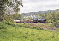 35028 at Bathford (Glen Batten) Tags: bath somerset steam belmondbritishpullman railbathford