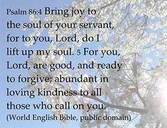 Psalm 86 4-5 (Martin LaBar) Tags: psalm psalm86 joy forgiveness kindness worship poster