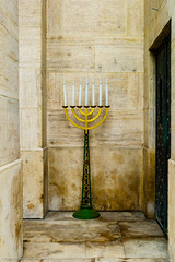 Menorah (gwpics) Tags: candles holocaust historic synagogue menorah jewish judaism hungarian war seven memories hungary tradition history heritage candlestick religion architecture rememberance budapest magyar traditional belief faith