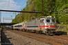 SPAX 2308 @ Woodbourne, PA (Dan A. Davis) Tags: septa passengertrain railroad locomotive train alp44 pushpull woodbourne pa pennsylvania