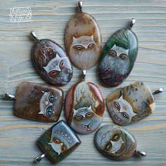 189 (shamancats) Tags: handmade art bohoart handpainted miniature painting shaman witch catart