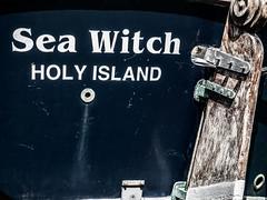 Sea Witch (Novocastria Photography) Tags: select lindisfarne holyisland sea seaside coast rock rocks sand tide outgoingtide vintagephotograph newcastlechronicle northernecho boat