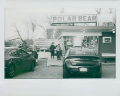 Polar Bear (thereisnocat) Tags: mercury mercurycamera instax instaxwide icecream spring middletown monmouthcounty newjersey nj belairinstantback