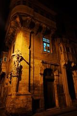 Malta Streets (Douguerreotype) Tags: light city dark night buildings window malta architecture valletta urban door statue