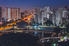 Bukit Panjang (hackdragon) Tags: hdr long exposure stack stacked image images leica q typ 116 28mm summilux asph singapore bukit panjang low light evening wallpaper amazing asian apartment blocks flats water smooth path swimming pool road sign community centre