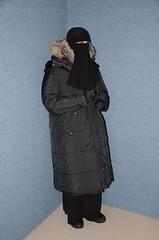 Warm Clothed (Warm Clothes Fetish) Tags: slave torture warm girl hot fur boots coat fleece niqab hijab burka chador winter sweat apron