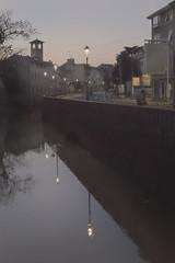 Padova (nicolamarongiu) Tags: sunset padua padova city reflections fiume luci notte chiesa strada paesaggio paesaggiourbano colori lampioni composition