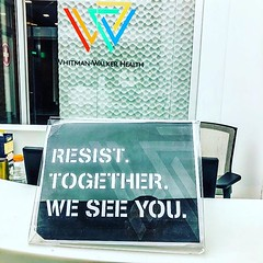 Thanks for resisting invisibility (which is so 20th century) & promoting health and life. We see you too and we're always glad when we do @whitmanwalker @capitaltranspride @capitalpridedc #EqualityEqualsHealth #VisibilityEqualsLife #TransVisibility :heart