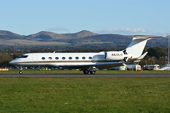 N829JV Gulfstream 650 EGPH 29-04-18 (MarkP51) Tags: n829jv gulfstream 650 corporatejet bizjet edinburgh airport edi egph scotland aviation aircraft airplane plane image markp51 sunshine sunny airliner nikon d7200 aviationphotography