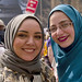 Muslim Women Join In Traditional Workers May Day Rally and March Chicago Illinois 5-1-18  1327