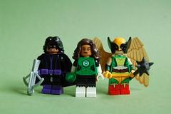Justice Ladies (th_squirrel) Tags: lego minifig minifigs minifigures minifigure dc comics huntress helena bertinelli jessica cruz green lantern hawkgirl justice league