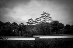 Himeji Castle (banzainetsurfer) Tags: asia japan architecture design defense history historic engineering castle himeji samurai clouds walls stone white large tall hyogo honshu 姫路城 日本