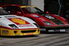 2x Ferrari F40  GT/LM (Dag Kirin) Tags: 2x ferrari f40 lm gt challenge days red bull ring 2018 monte shell white black gold