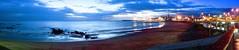 Penguin tracks at Burnie, i was just a little too late to get their photo. (taszee63) Tags: tasmania burnie panorama beach sand bassstrait sea lowtide penguin tracks ocean dawn twilight clouds blue longexposure rain wet boardwalk hour shoreline little shore waves