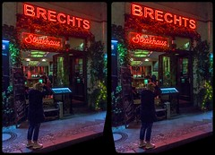 Steak restaurant at night 3-D / CrossEye / Stereoscopy / HDRaw (Stereotron) Tags: berlin spreeathen mitte metropole hauptstadt capital metropolis brandenburg city urban night nocturnal neon restaurant europe germany deutschland crosseye crossview xview pair freeview sidebyside sbs kreuzblick 3d 3dphoto 3dstereo 3rddimension spatial stereo stereo3d stereophoto stereophotography stereoscopic stereoscopy stereotron threedimensional stereoview stereophotomaker stereophotograph 3dpicture 3dimage twin canon eos 550d yongnuo radio transmitter remote control synchron kitlens 1855mm tonemapping hdr hdri raw availablelight