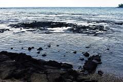 Kona Coast (thomasgorman1) Tags: beach shore ocean seascape landscape lavarock cove coast nikon kona kahaluu reef rocky sand horizon ship