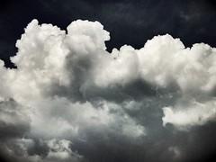 Dark clouds ... (anubis131) Tags: thunder gewitter weather wetter wildclouds nature natur bw blackwhite schwarzweis abstrakt abstract extrem sturm storm poetry extremesky himmel sky wolken clouds iphone7plus iphotograph freudenbergerpiller wertheim germany anubis1301 heikefreudenberger