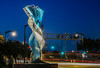 Islais bayview gateway (pbo31) Tags: bayarea california nikon d810 color may 2018 spring boury pbo31 sanfrancisco city urban night dark art sculpture blue islaiscreek bayviewdistrict portofsanfrancisco lightstream traffic roadway motion