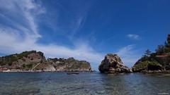 IMGP9878 Seascape (Claudio e Lucia Images around the world) Tags: taormina sicilia sicily isola isolabella bella island panorama sea mare sky bluesky bluesea water pentax pentaxk3ii sigma sigma1020