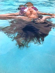 Let the summer begin (chrisivuk) Tags: pointofuphotography florida relaxing blue hair swimming floating pool