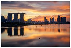 Marina Bay sunset (.Wadders) Tags: singapore marinabay barrage sunset 2018 d600 ngc nikonfxshowcase nikkor1635mmf4 water reflection reservoir