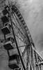 The big wheel at Torquay seafront (_John Hikins) Tags: wheel bw blackwhite blackandwhite white seaside sea nikon nikkor torbay torquay seafront big clouds devon d500 18300mm 18300 18 18mm monochrome