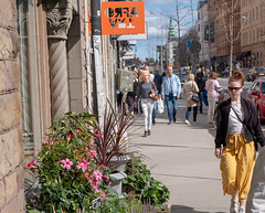 Flower shop and girl (virre) Tags: stockholm södermalm candid street color