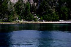 Desembarco. (luisarmandooyarzun) Tags: ngc río hierba árbol playa neuquén islavictoria isla barco azul riberas bosque lagos lake paisaje landscape patagonia patagoniaargentina panorama agua argentina flickrunitedaward