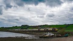 Teign Pullman (Hoovering_crompton) Tags: class 67 67021 67024 belmond british pullman vsoe orient express skips boat river devon nikon d3300 landscape train diesel locomotives luxtonsteps