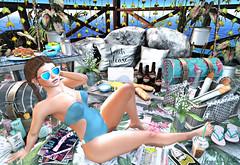 {Blog 331} Beach Escape (veronica gearz) Tags: avatar avi avatars blogger blog bloggers blogs blogging bento beach secondlife sl second summer maitreya mesh life lelutka 2ndlife larahurley wasabi chicmoda cae foxcity virturalnature merak ariskea hive nomad fetch mossmink disorderly pilot tresblah secondspaces prismsl bloom