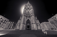 San Sebastion Cathedral (plume-rider (randomly on-line)) Tags: sansebastian spain cathedral toned lightroom photoshop topaz sonya7ii blackandwhite
