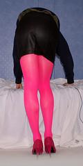Pink tights (colleen_ni00) Tags: tranny transvestite crossdresser pink tights heels stilettoes