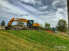 01366de70bf0286742d3961e97fc9b88c295a9f000-2 (Simply Angle) Tags: iphone iphonex chewelahwa chewelah washington unitedstates us clouds weather demolition pool swimming debris dirt mud hdr tractor caution trees buildings fence deere kobelco
