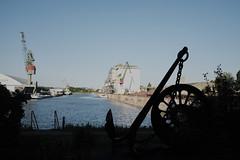 Harbour History (mripp) Tags: art vintage retro old harbor hafen urban city economy wirtschaft handel umschlag fuji x100f stadt