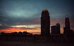 It wasn't for the lack of trying (builder24car) Tags: sunrise cityscape firstlight skyscrapers uptown charlottenorthcarolina