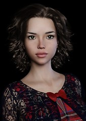 Next model : Celine (foto_morgana) Tags: 3drendering 3dcharacters 3dhumanmodels 3dmodeling computergeneratedimagery unbiasedgprendering nvidiairayengine render rendering 3dimensionalart dazstudio50 3dsoftware photorealisticimagery on1photoraw2018 cgi imagery digitalart illusions personality character physiognomy portrait portraiture headshot fullfaceview virtualart virtualworld virtualwoman caucasianwoman girl cutegirl prettygirl topmodel supermodel face lady stunningbeauty classicbeauty sultrygirl bombshell gorgeousgirl mysterybeauty stare view eyelevelview attractivegirl sensual freckledskin freckledface freckles brunette longhair longhaired curls hairstyle bigeyes sultryeyes photoshoot amazingmodel talent mannequin posing darkbackground
