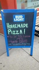 You Cant Make Everybody Happy! Your Not Pizza (rabidscottsman) Tags: scotthendersonphotography sign pizza sidewalk sd southdakota deadwoodsouthdakota travel thenuggetsaloon funny pool darts foosball chalk chalkboard youcantmakeeveryonehappy budlight blue wednesday gameroom