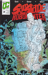 Sam Slade, RobotHunter #20 (micky the pixel) Tags: comics comic heft sf scifi sciencefiction qualitycomics fleetway ipcmagazines erniecolon samsladerobothunter samslade robothunter grab grave geist ghost phantom roboter robot beerdigung funeral