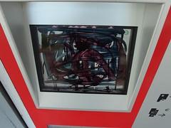 Werk des Schwarzmalers (mkorsakov) Tags: dortmund city innenstadt unionviertel graffiti tagging damage fahrkartenautomat ticketmachine monitor screen schwarz black edding