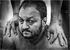 Mud Wrestler (channel packet) Tags: india kolkata mud wrestler portrait monochrome davidhill