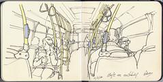 Viajando en autobús (f.gómezcorisco) Tags: rotulador airelibre castejao urbansketchers cuaderno apunte boceto dibujo madrid españa