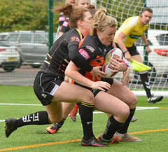 Pony (Tail) Trials (Feversham Media) Tags: yorkcityknightsladiesrlfc castlefordtigerswomenrlfc amateurrugbyleague womenssuperleague rugbyleague york northyorkshire yorkshire yorkstjohnuniversity sportsaction
