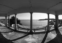 Plymouth Sound (chrisinplymouth) Tags: hoe plymouth plymouthsound belvedere black white monochrome cw69x fisheye distortion devon england city xg